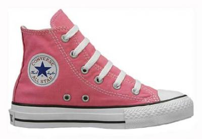 f84d2508ed2f Vulcanized rubber outsole for increased traction and flexibility. Style  Kids  Converse Chuck Taylor All Star Hi Top Pink ...