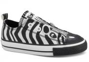 Converse Chuck Taylor All Star Infants Simple Slip White/Black Zebra 726085F
